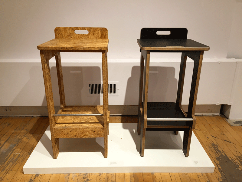Comet Stool Prototype and Comet Stool by John Baird.