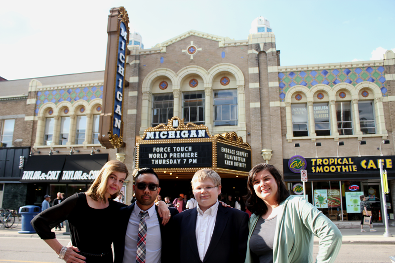 Nancy Mitchell, Rik Cordero, Adam Ruff, and  Alysha Schlundt-Bodien at the sold out premiere at the Michigan Theater.