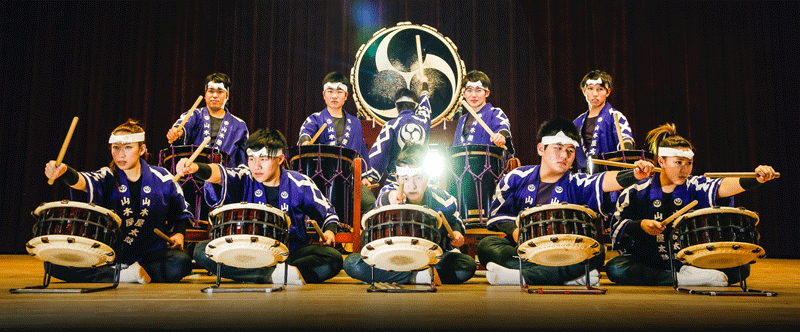 The Yamakiya Taiko Ensemble will take the stage at the Power Center for a free concert on Tuesday, March 22, 2016.