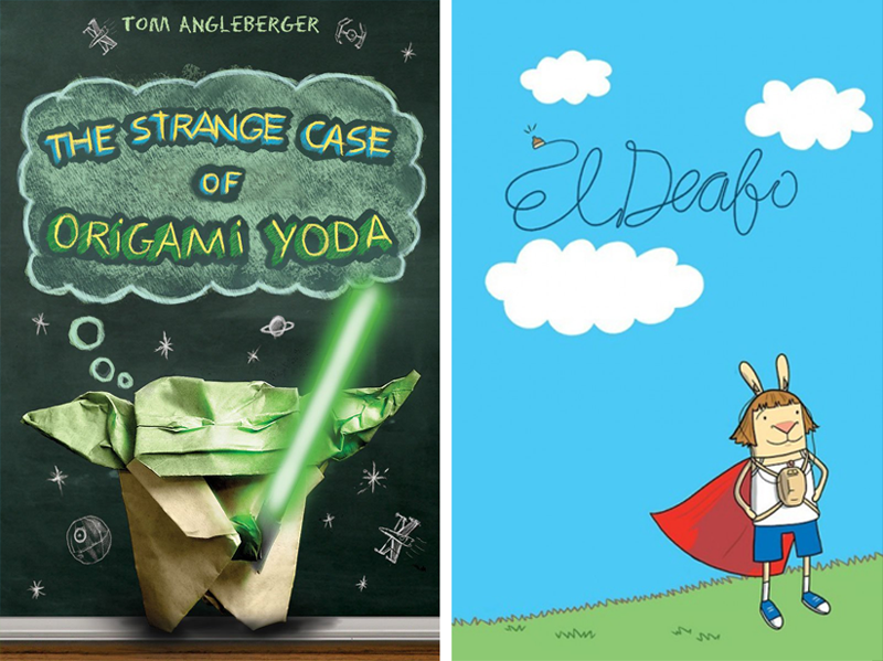 Origami Yoda by Tom Angleberger and El Deafo by Cece Bell.