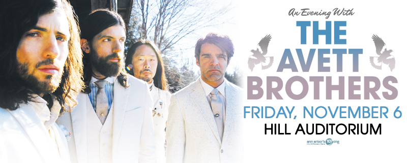 The Avett Brothers bring their banjos to Hill Auditorium November 6th
