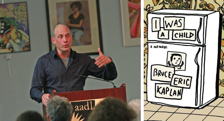 Bruce Eric Kaplan talking TV and cartoons and parenting at AADL
