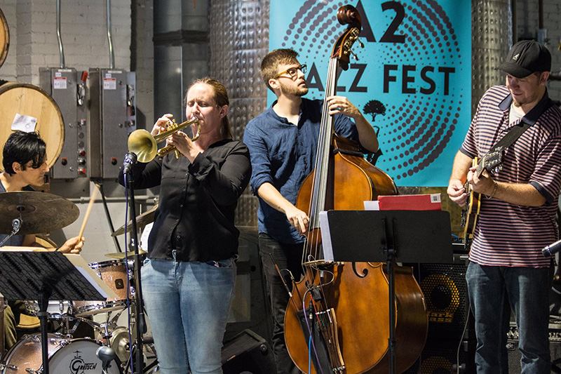 Ingrid Racine at the recent Ann Arbor Jazz Festival