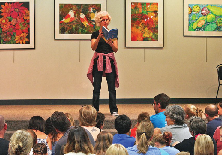 Kate DiCamillo brought some tales of despereaux-tion to the Downtown Library on Sunday.