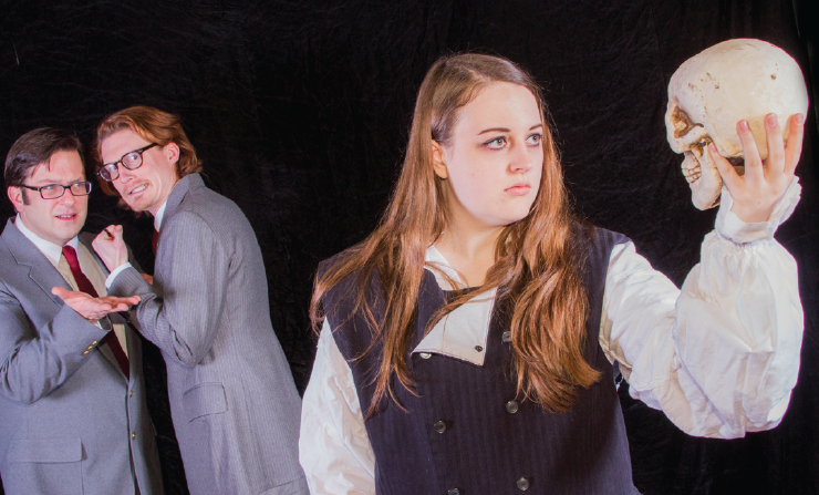 Rosencrantz and gentle Guildenstern watch Hamlet talking nonsense not to herself in A2CT's new production.