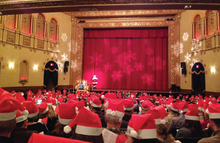 Busters and weirdsmobiles packed Michigan Theatre to sing along with White Christmas