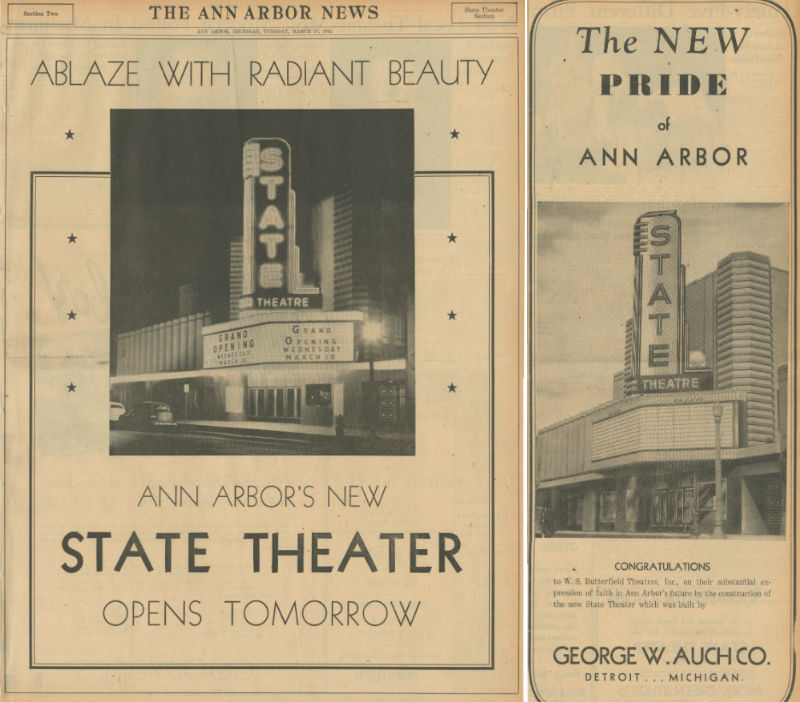 State Theatre, grand opening, March 1942