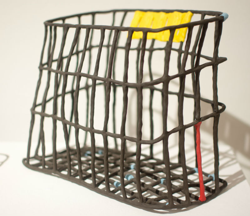 Priya Thorseen, Basket with Primary Colors, Ann Arbor Arbor Art Center's 95th All Media Exhibition
