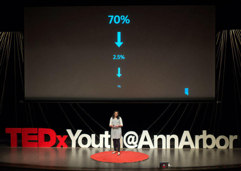 Mallika Kothari at 2018 TEDxYouth@AnnArbor