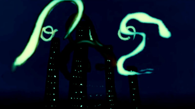 Screenshot from the Abiro music video animation