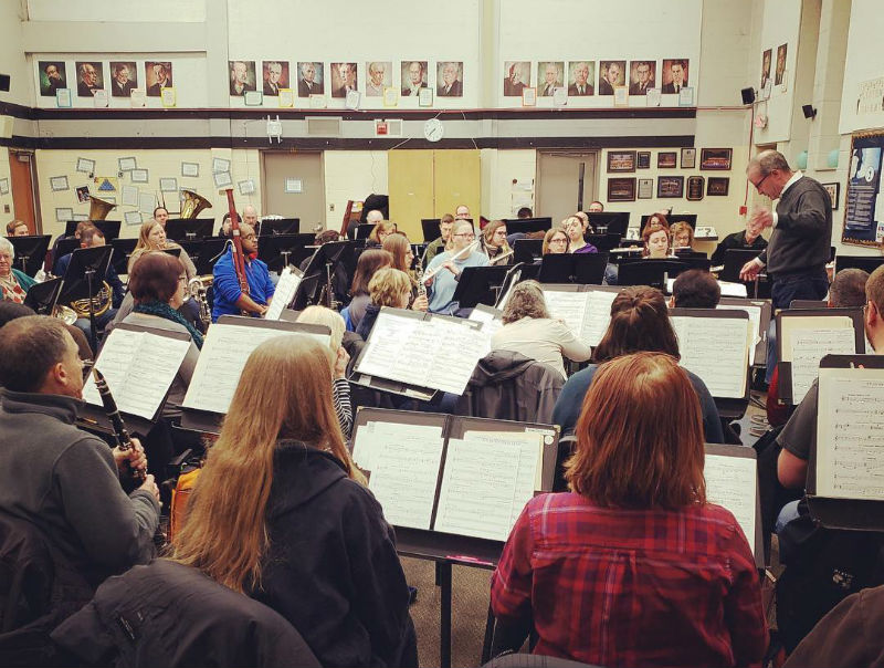 Ann Arbor Concert Band practicing