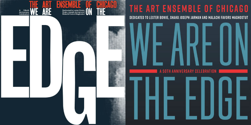 Art Ensemble of Chicago's We Are on the Edge album covers