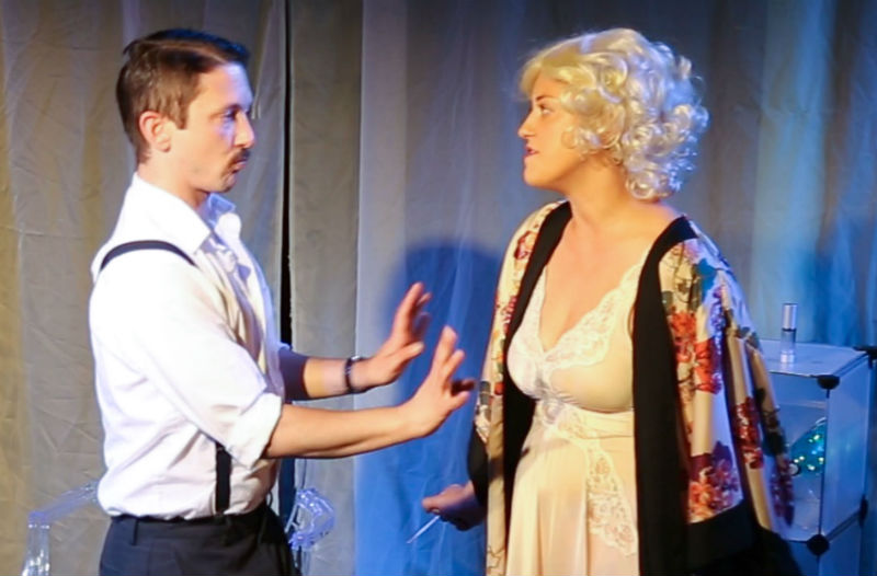 Bailey Boudreau and Luna Alexander in A Night of Stars by Slipstream Theatre