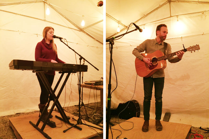 Katie Pederson and Tim Monger at Cultivate in Ypsilanti