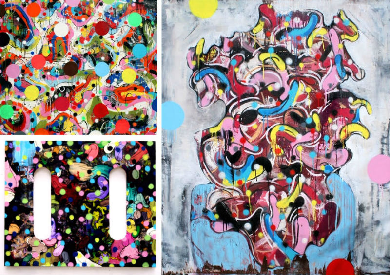 Dennis Jones' Candyland paintings