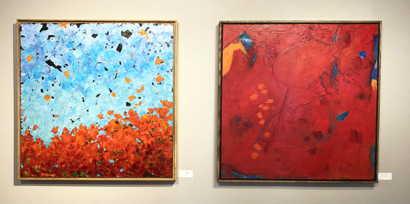 Elizabeth Schwartz paintings, Celebrating Scarlet and The Power of Red