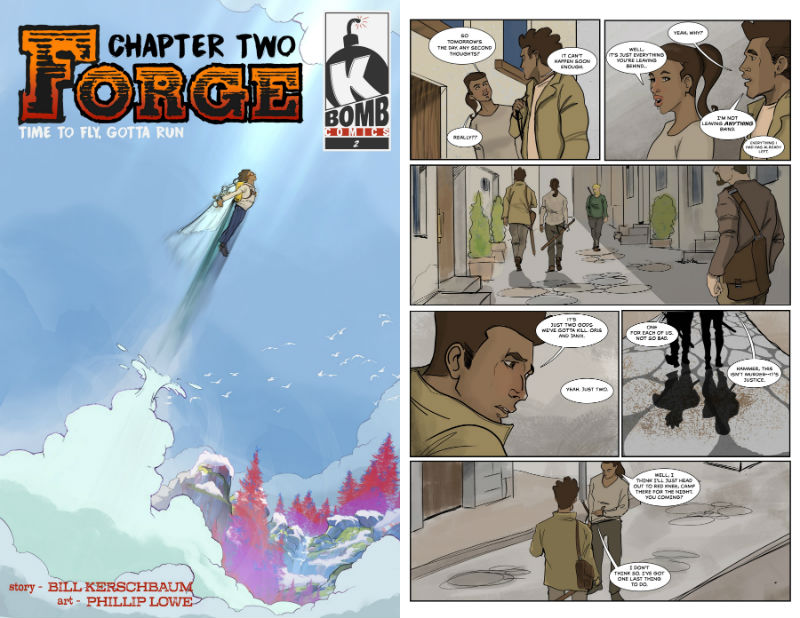 Forge chapter 2 cover and interior page