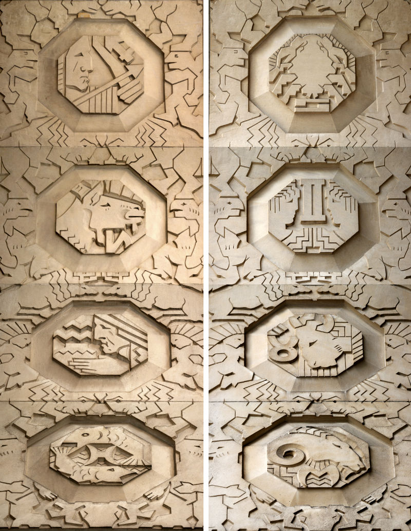 Penobscot zodiac symbols from Guardians of Detroit