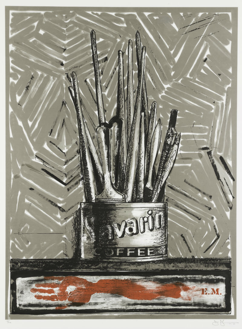 Jasper Johns, Savarin print