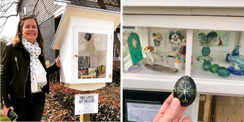 Free Little Art Gallery and Take Art Leave Art
