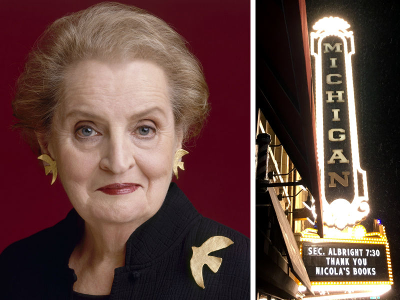 Madeline Albright at the Michigan Theater