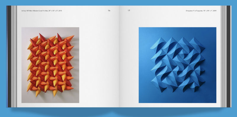 Interior pages of Matthew Shlian's Unfolding book