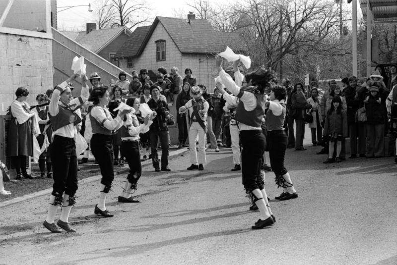 Morris dancers in Ann Arbor, 1978