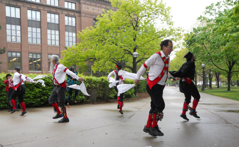 Morris dancers in Ann Arbor