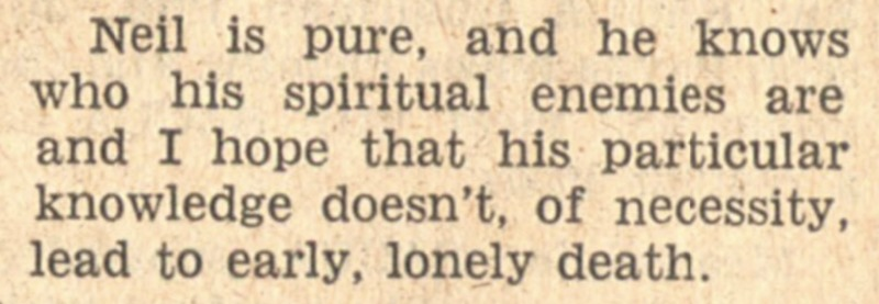 Neil Young review in the Michigan Daily, 1969