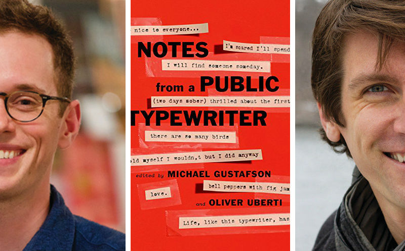Michael Gustafson & Oliver Uberti with their book Notes From a Typewriter