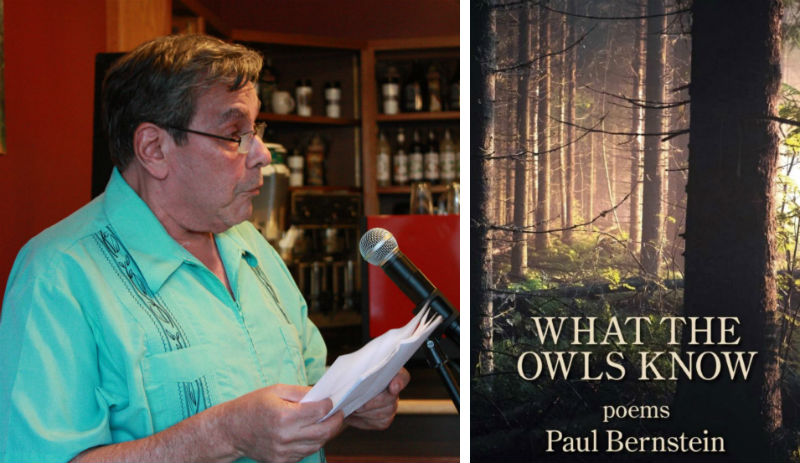 Paul Bernstein and his book of poetry, What the Owls Know