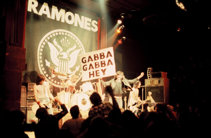Robert Mathieu photo of The Ramones at The Second Chance in Ann Arbor, 1978.