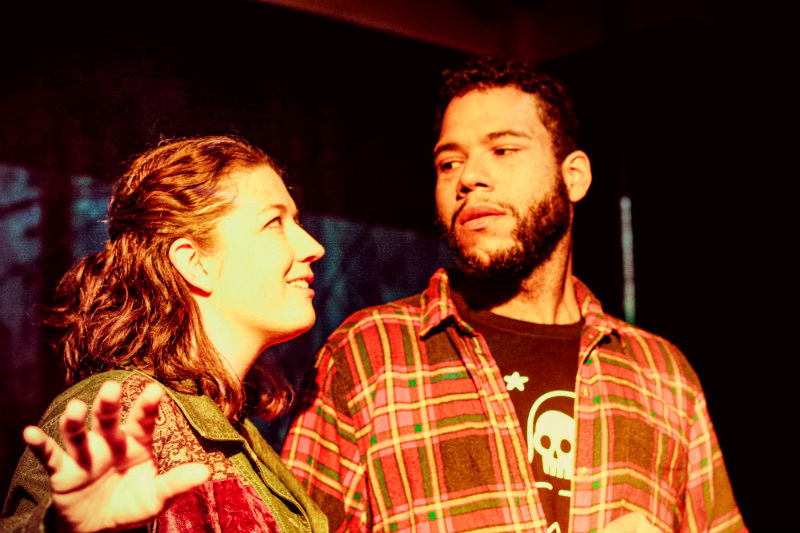 Julia Garlotte and Dan Johnson in Roustabout Theatre Troupe's production of Haunted.