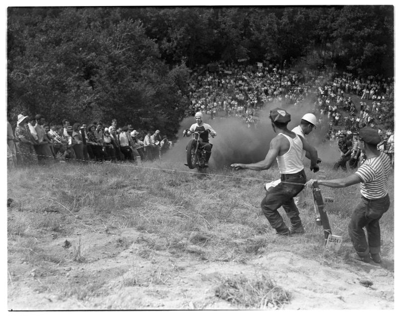 Eck Stanger - Motorcycle Hill Climb, Scio Township, July 1939