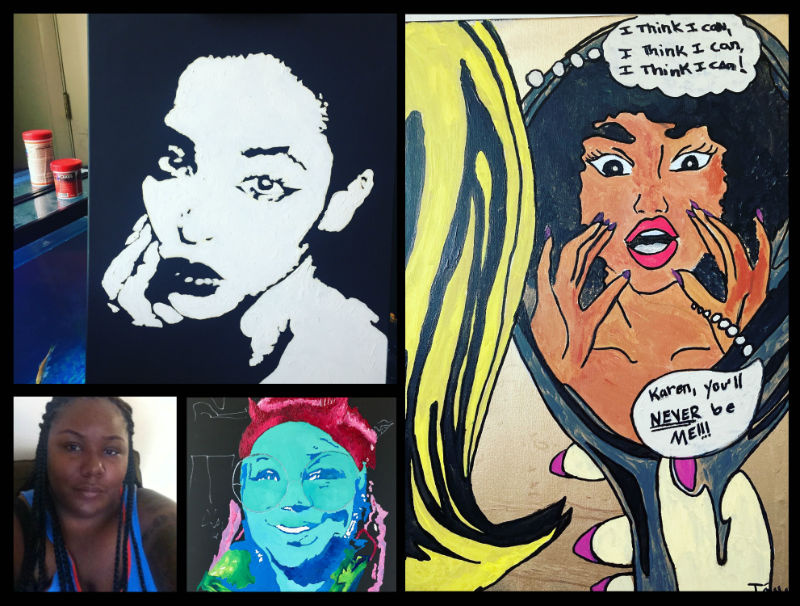 Collage of T'onna Clemons' work