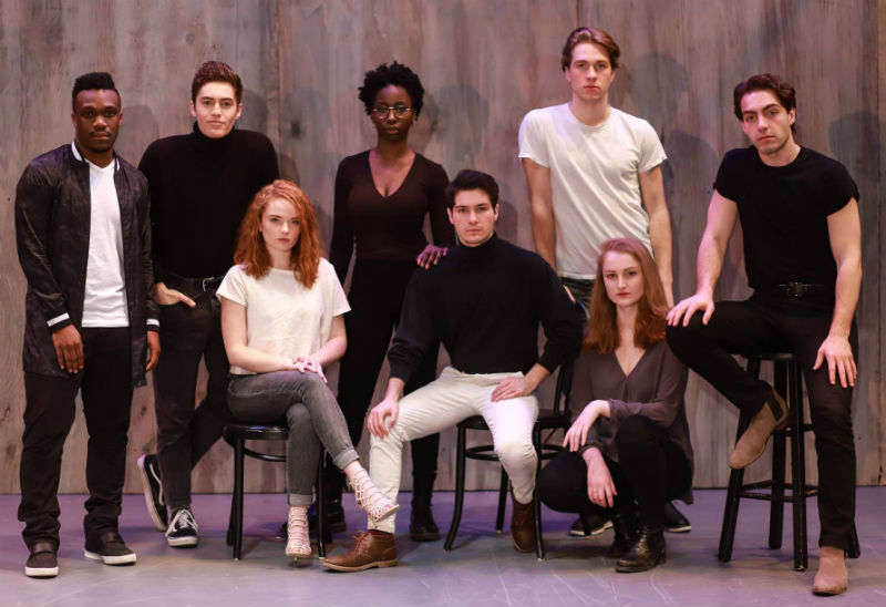 The cast of U-M's production of Angels in America, Part 1