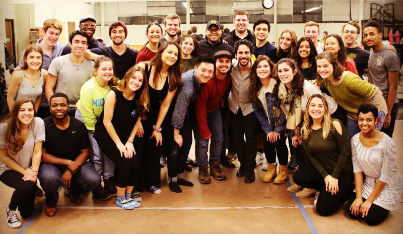 "The cast of University of Michigan Musket's ""In the Heights"""