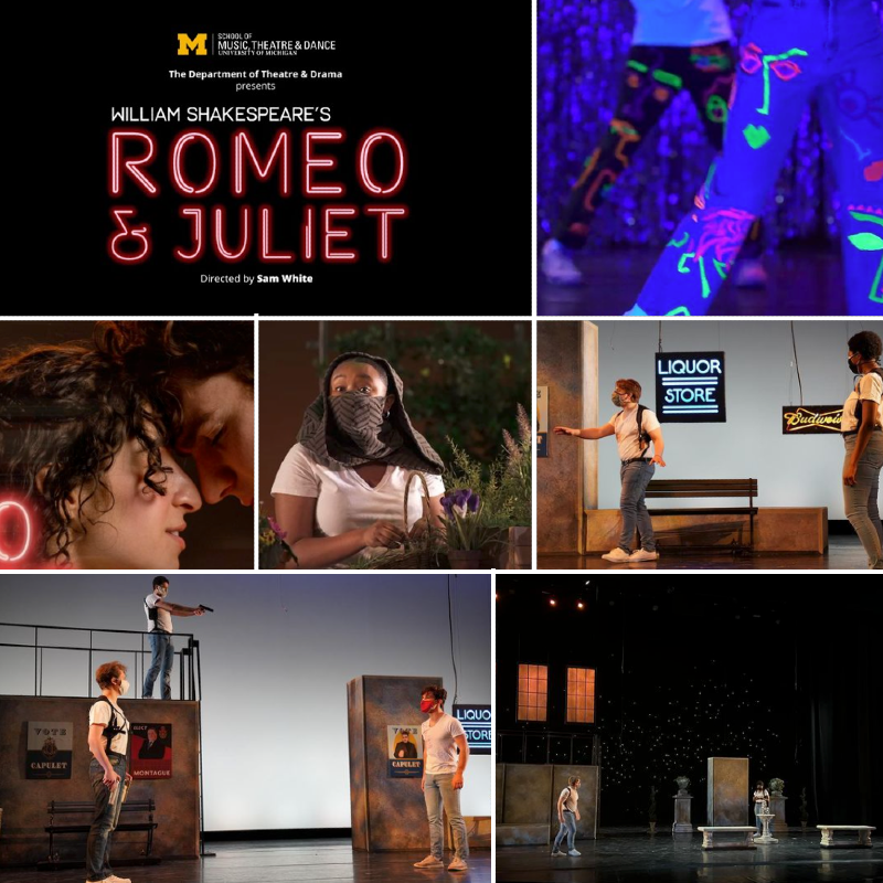 U-M's spring 2021 production of Romeo and Juliet