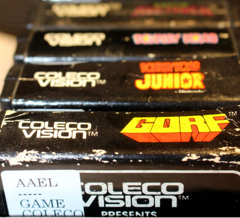 Colecovision games at U-M's Computer and Video Game Archive