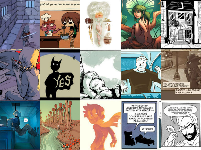 webcomics collage