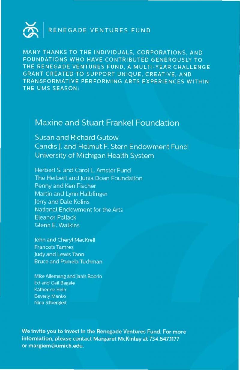 UMS Concert Program, January 15, 2014 - January 30, 2014 - Colin ...